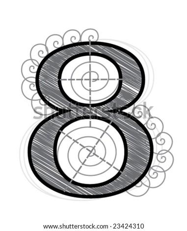 Eight - stock vector