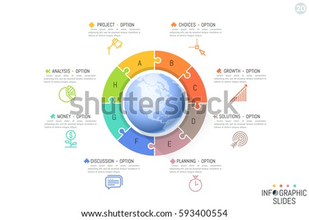 Vector Pie Chart Template Graphs Charts Stock Vector ...