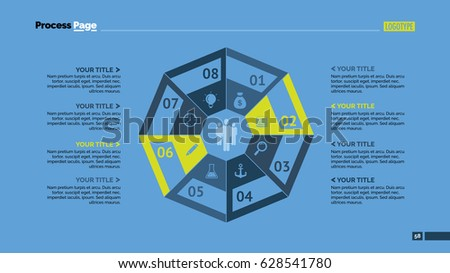 Stock Vector Eight Octagon Parts Slide Template on Boxing Steps Diagram