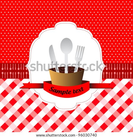 Eighties years style restaurant - stock vector
