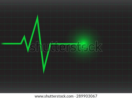 ekg or heart rate wave monitor vector illustrations