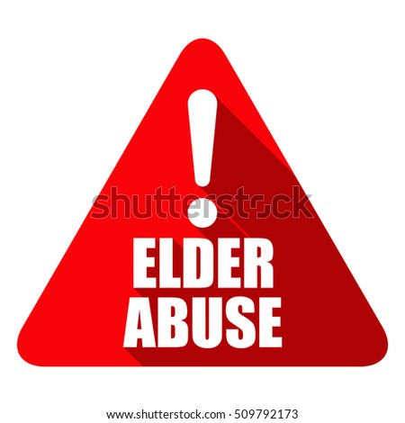 Elder Abuse illustration sign