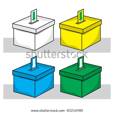 election box - ballot box - stock vector