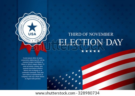 Election day - stock vector