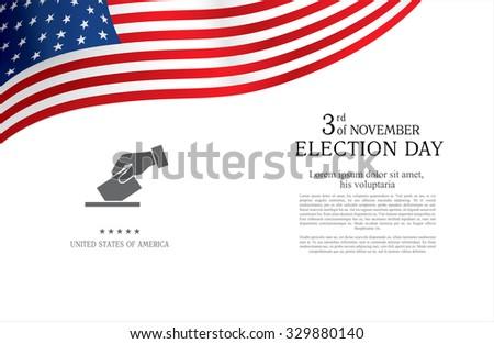 Election day. Brochure design templates - stock vector