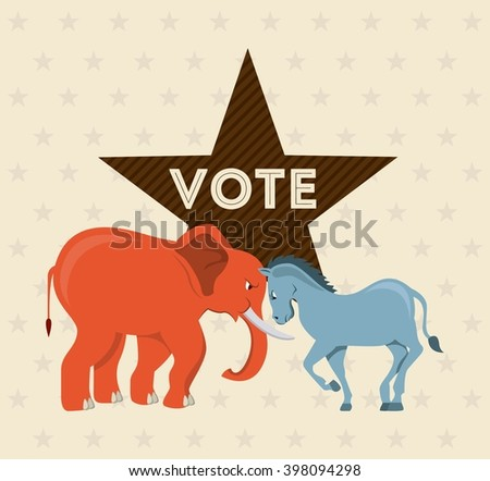 Election Day design  - stock vector
