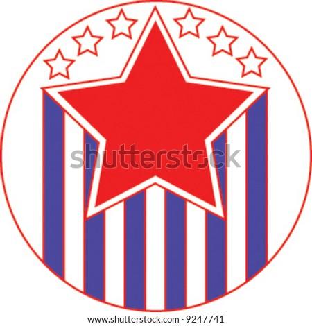Election logo vector - stock vector