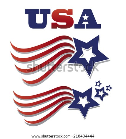 Election USA Flag illustration. Vector icon - stock vector