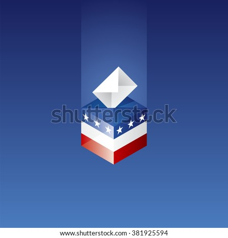 Elections in US blue background vector - stock vector