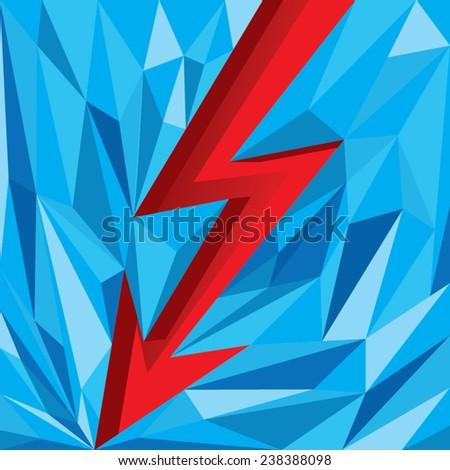 electric arrow facet design - stock vector