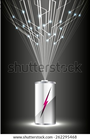 electric battery energy, vector illustration, dark black Light Abstract Technology background for computer graphic website internet. wave. silver. circuit - stock vector