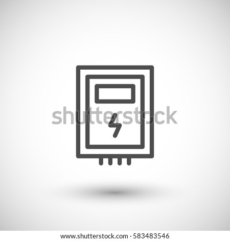 electric box line icon stock vector 583483546 shutterstock rh shutterstock com fuse box contact number fuse box contact number