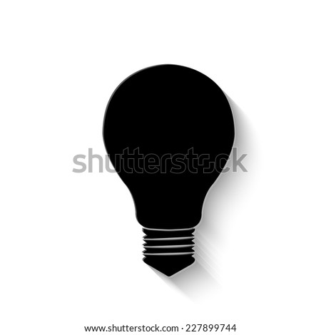electric bulb icon - vector illustration with shadow - stock vector