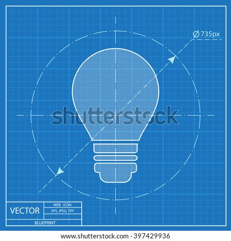 Electric bulb vector blueprint icon vectores en stock 397429936 electric bulb vector blueprint icon malvernweather Image collections