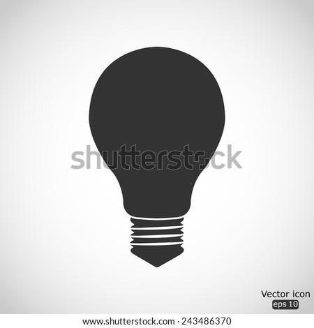 electric bulb vector icon - stock vector
