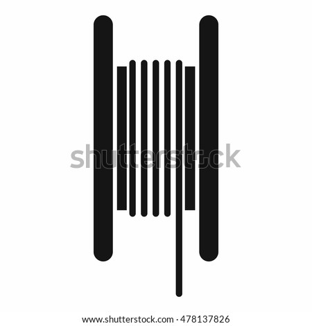 Electric Cable Coil Icon Simple Style Stock Vector HD (Royalty Free ...