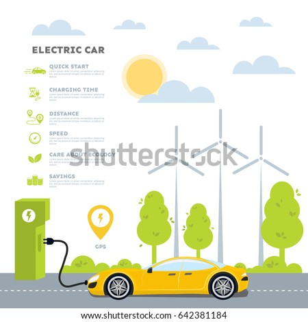 Electric Vehicle Stock Images Royalty Free Images Vectors