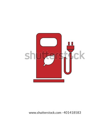 Electric Car Charging Station Bio Fuel Stock Vector (2018) 401418583 ...