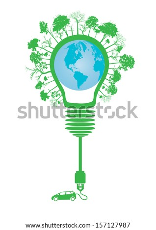 electric car design  (light bulb with socket)