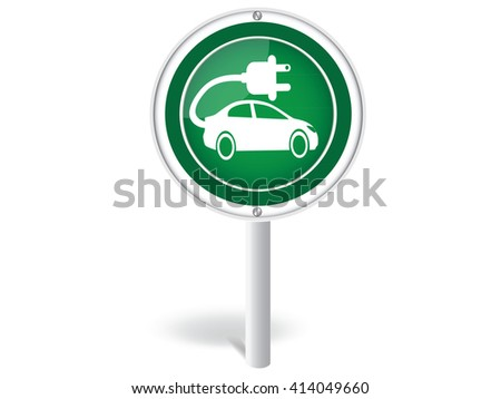 Electric Car Sign.vector