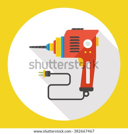 electric drill flat icon