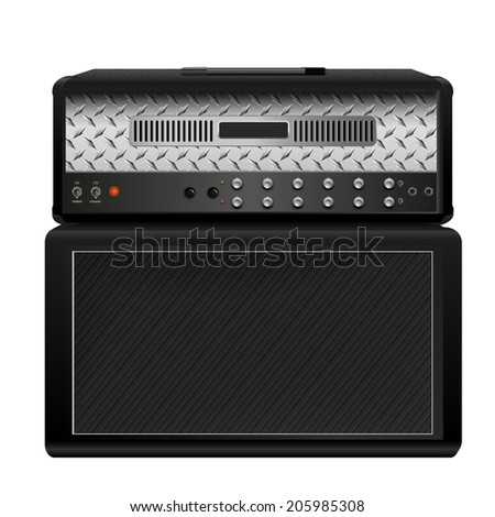Electric guitar amplifier - stock vector