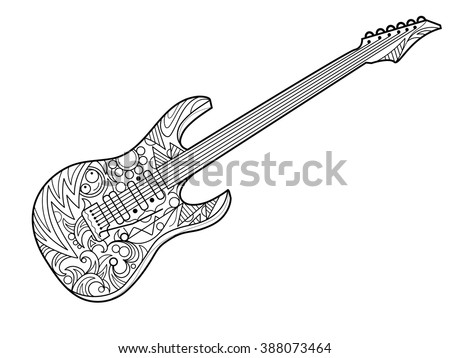 Chainsaw vector icon stock vector 563956144 shutterstock for Electric guitar coloring page