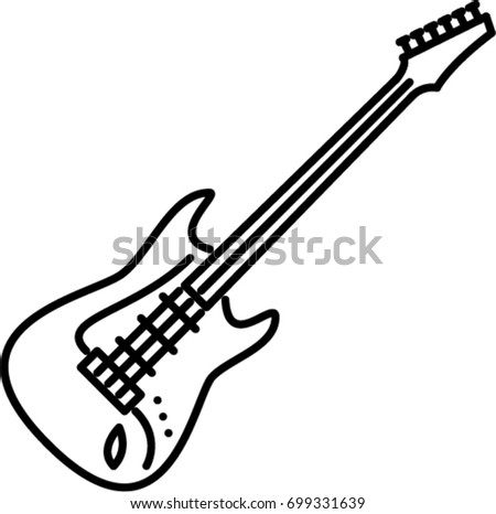 electric guitar outline icon stock vector 699331639
