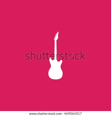 electric guitar sign. electric guitar icon