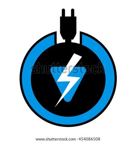 electric icon - stock vector