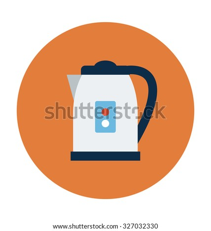 Electric Kettle Colored Vector Icon