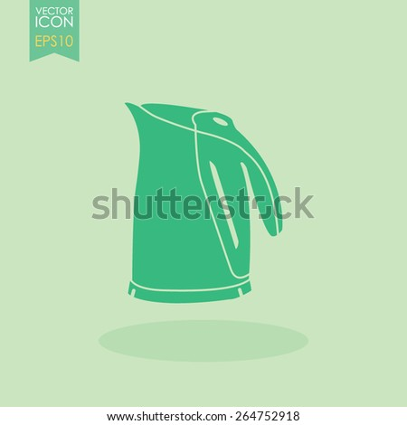 Electric kettle icon. - stock vector