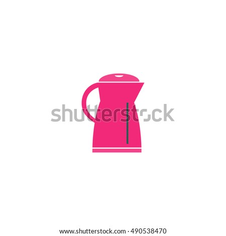 Electric kettle Icon Vector. Flat simple color pictogram