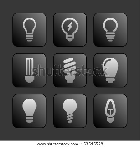 Electric lamp icons - stock vector