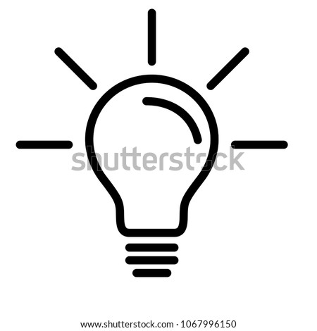 Electric Light Bulb Lamp Symbol Bright Stock Vector Hd Royalty Free