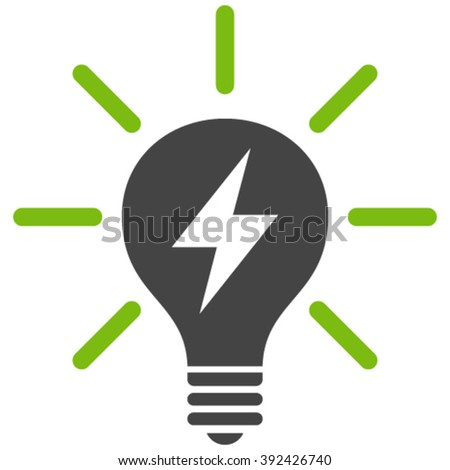 Electric Light Bulb vector icon. Electric Light Bulb icon symbol. Electric Light Bulb icon image. Electric Light Bulb icon picture. Electric Light Bulb pictogram. - stock vector