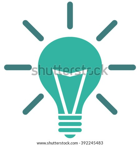 Electric Light vector icon. Style is bicolor flat icon symbol, cobalt and cyan colors, white background.