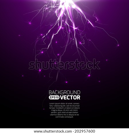 Electric lighting effect, abstract techno backgrounds for your design  - stock vector