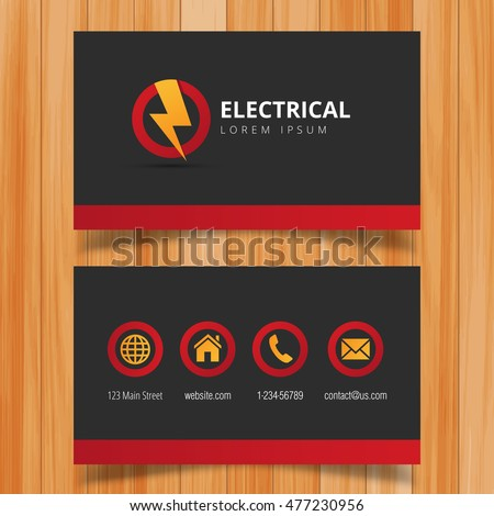 Electric Logo And Business Card Template