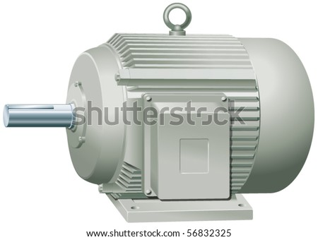 Electric motor vector illustration - stock vector