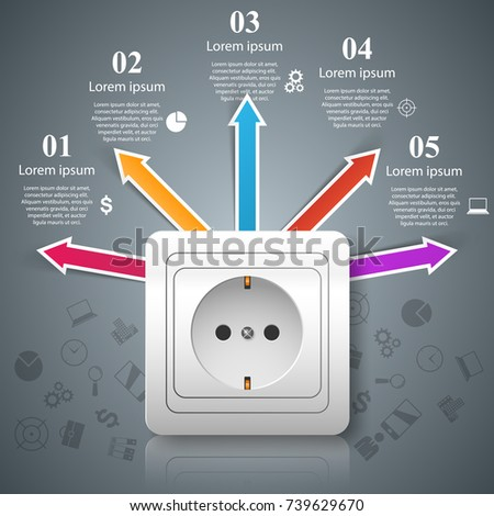 Electric Outlet Icon 3 D Infographic Design Stock Vector 739629670 ...