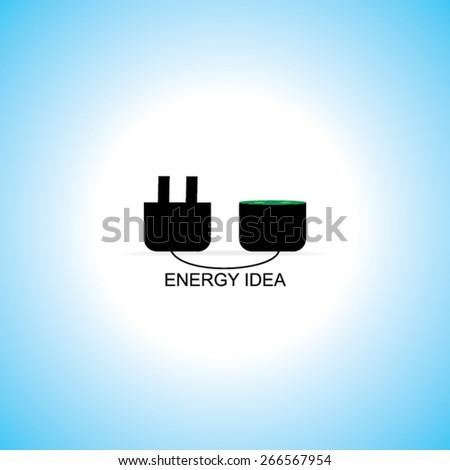 electric pin concept idea vector  - stock vector