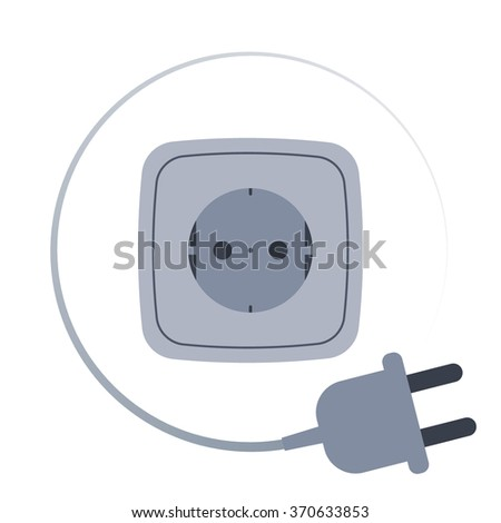 Electric plug and socket. Vector illustration.