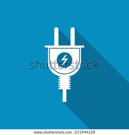 Electric plug icon - stock vector