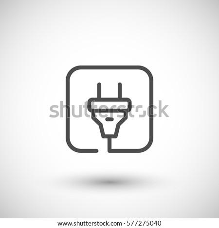 Three Pronged Power Cord Symbol Stock-vektorgrafik 419003578 ...