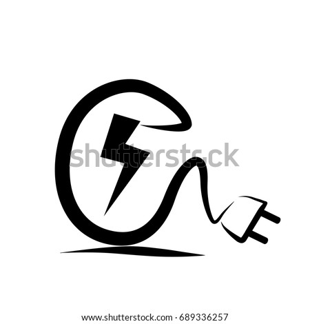 Electric Plug Logo Sketch
