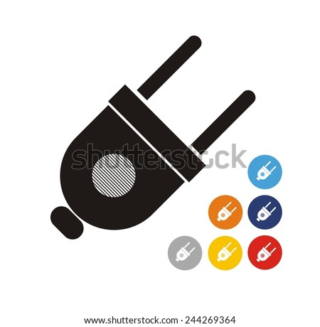 electric plugin icon - stock vector