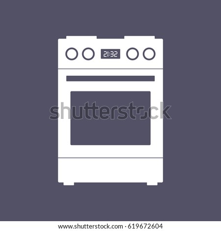 stove with range kitchen stove range icon vector oven stock vector 446453872