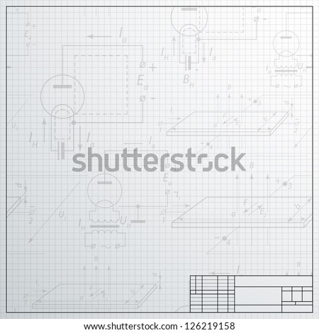 Electric scheme designing over gray background. Vector illustration, contains transparencies. - stock vector
