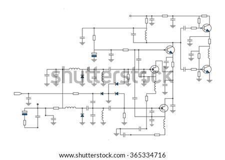 Electric Scheme Fantasy Technology Vector Background Stock Vector ...